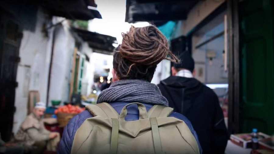 Jorge Sierra en su corto viaje a Marruecos