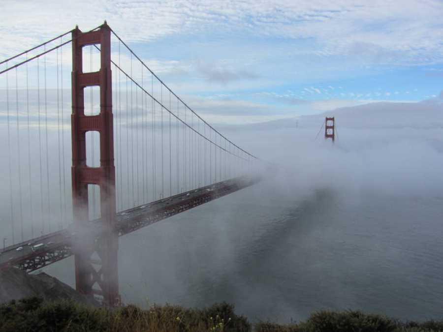 Niebla en el Golden Gate de San Francisco