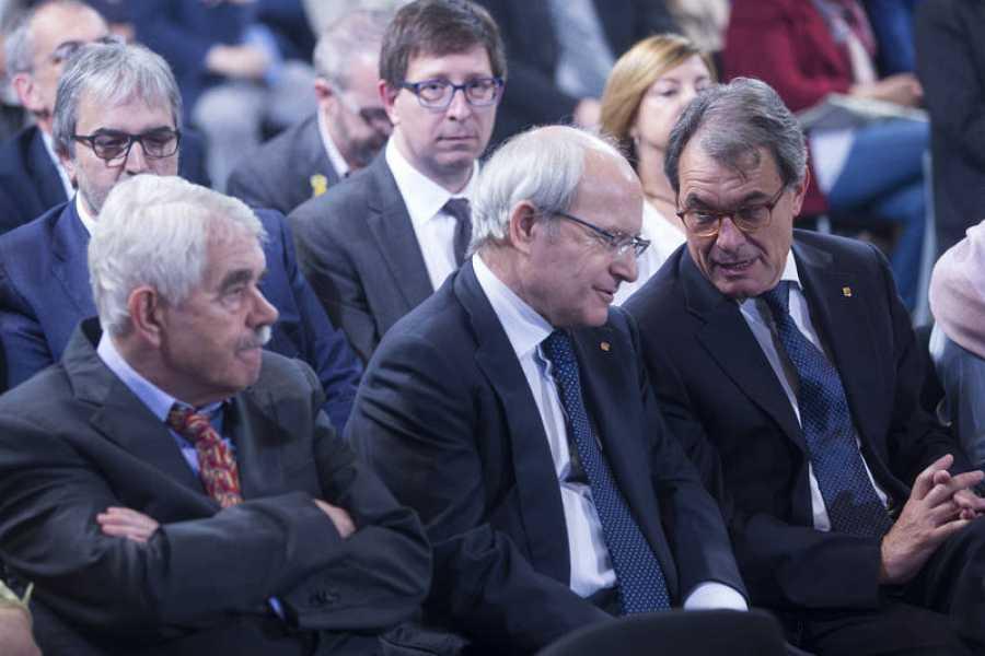 Los expresidentes Pascual Maragall, José Montilla y Artur Mas