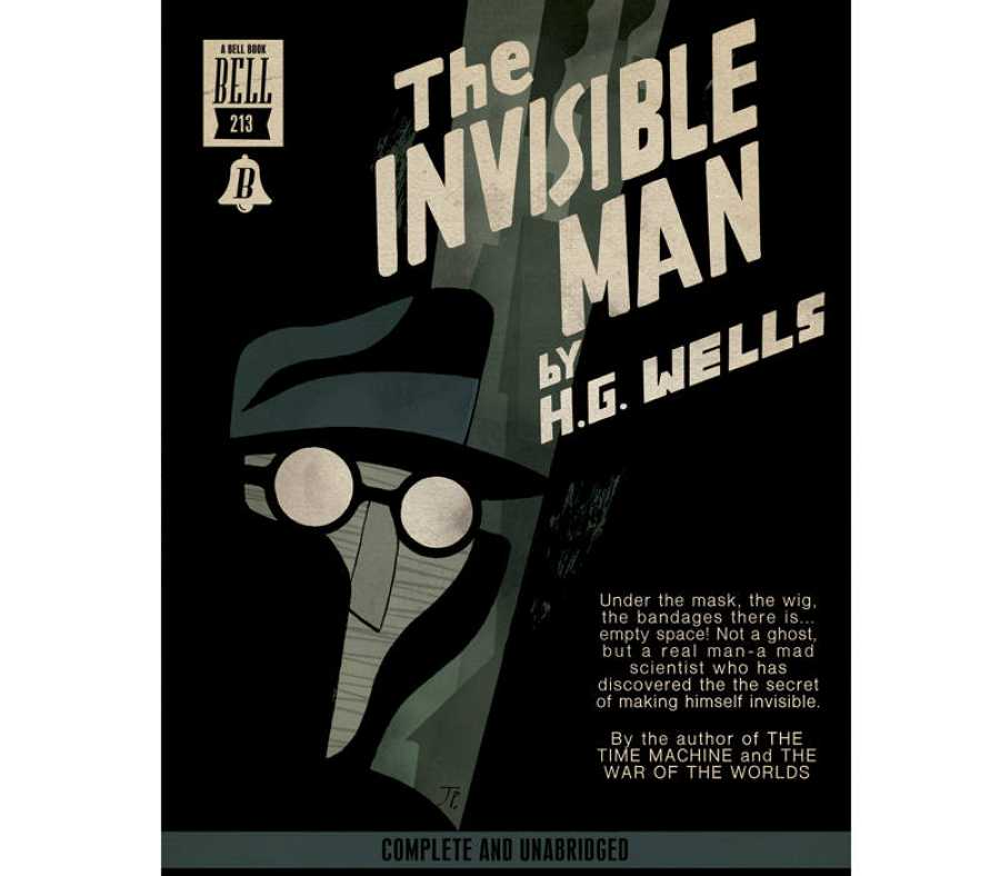 Portada de Joaquín Pertierra para 'El Hombre invisible'