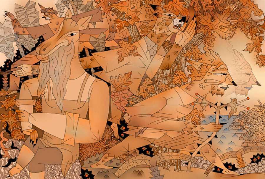 Ilustración de Miguel Calatayud sobre 'La isla del Dr. Moreau'