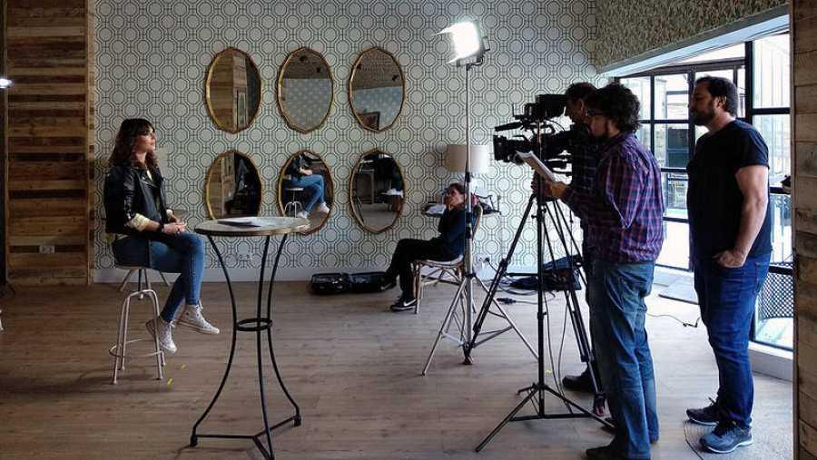Un momento de la grabación de los consejos 'Ecotips' con Eva Rojas.