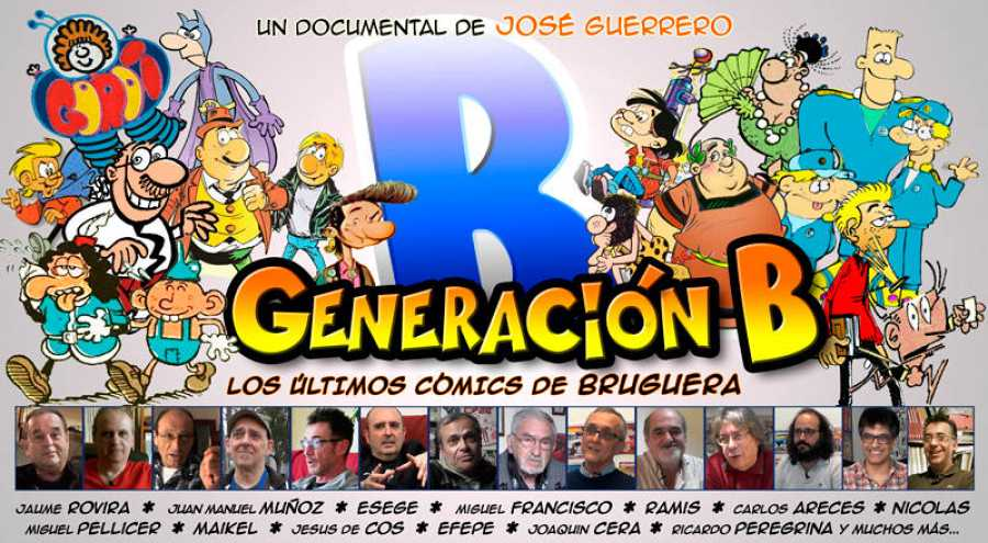 Cartel provisional del documental 'Generación B'