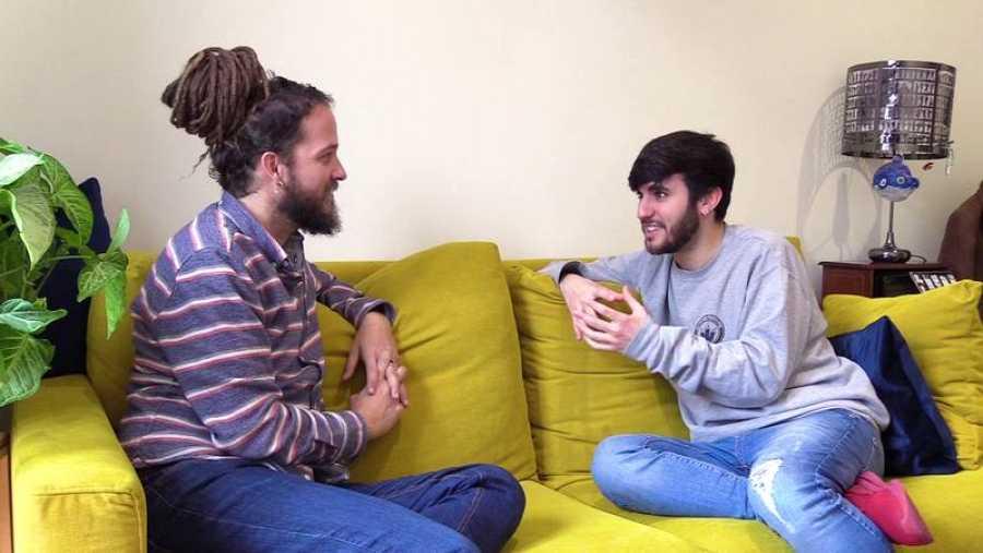 Coque Macho en el último programa de 'Surfeando sofás' con Jorge Sierra