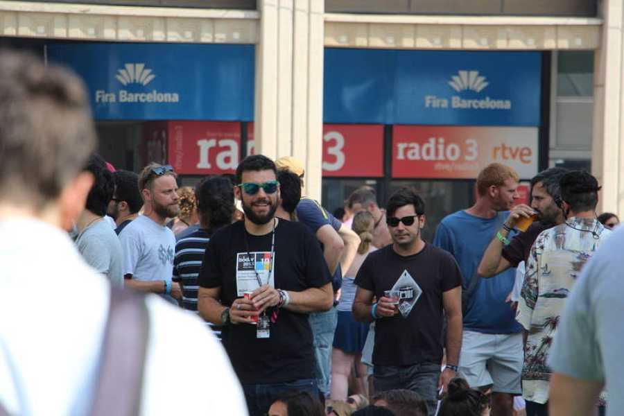 Stand de Radio 3 en el Sónar 2017