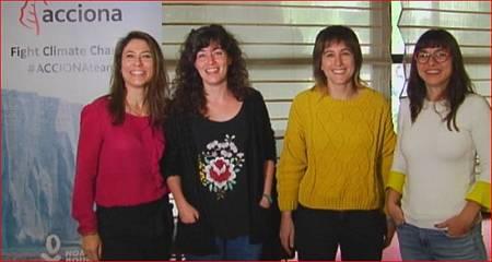 La bióloga marina Alicia Pérez Porro, la oceanógrafa, Ana Payo Payo, la ingeniera de telecomunicación, Uxua López y la bióloga molecular experta en energías renovables, Alexandra Dubini forman el equipo español