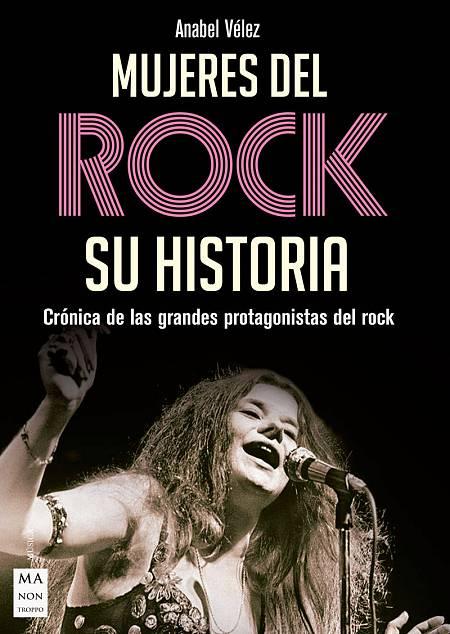 Portada del libro 'Mujeres del rock', de Anabel Vélez