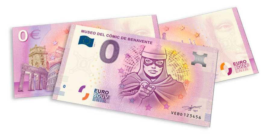 Billetes promocionales del Museo del Cómic de Benavente