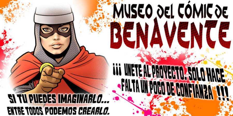 Cartel promocional del Museo del Cómic de Benavente