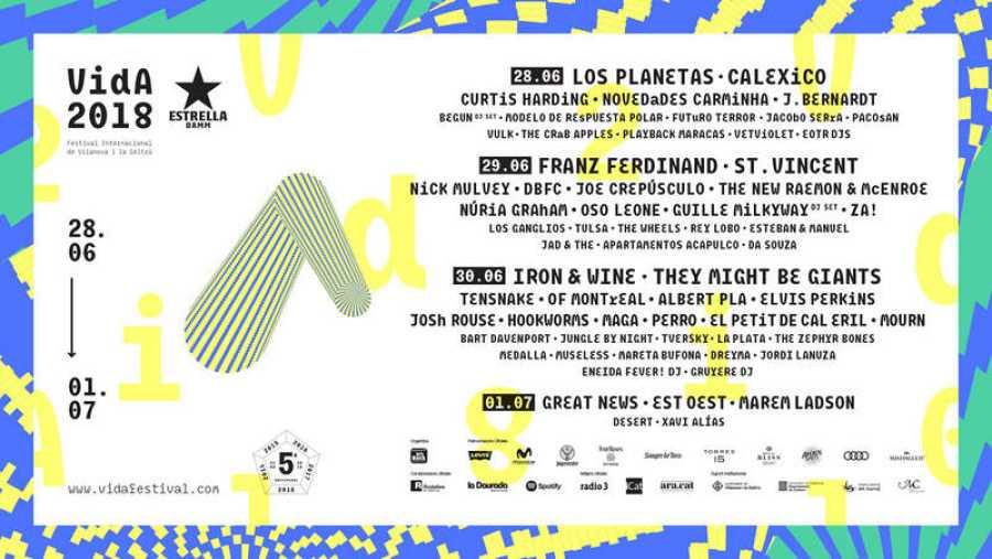 Cartel del quinto aniversario del Vida Festival