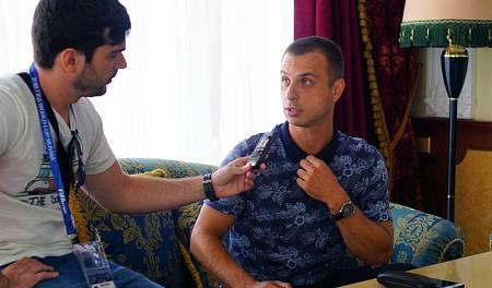 Alenxander Sankov durante la entrevista con RTVE.es
