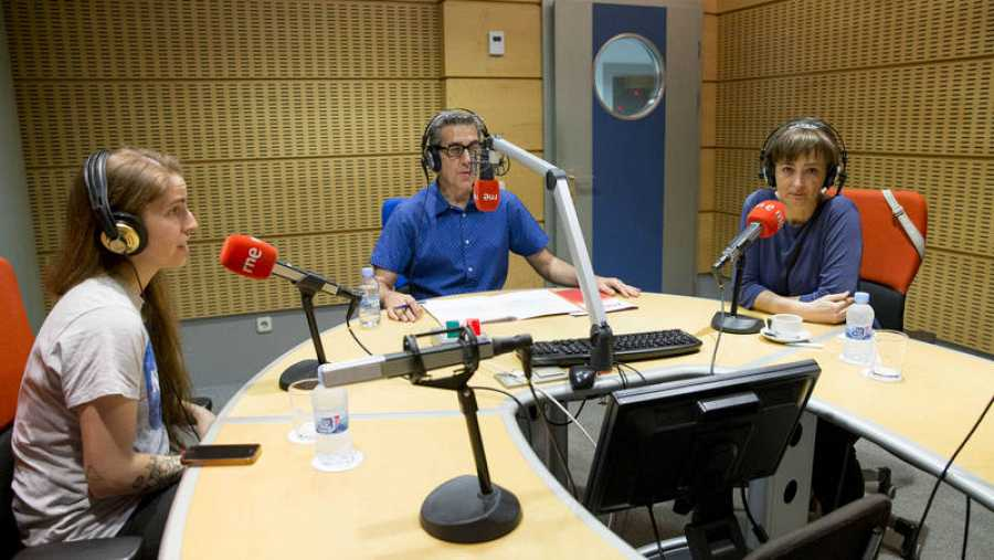 Cristina Luna y Luz Orihuela, en un momento del programa