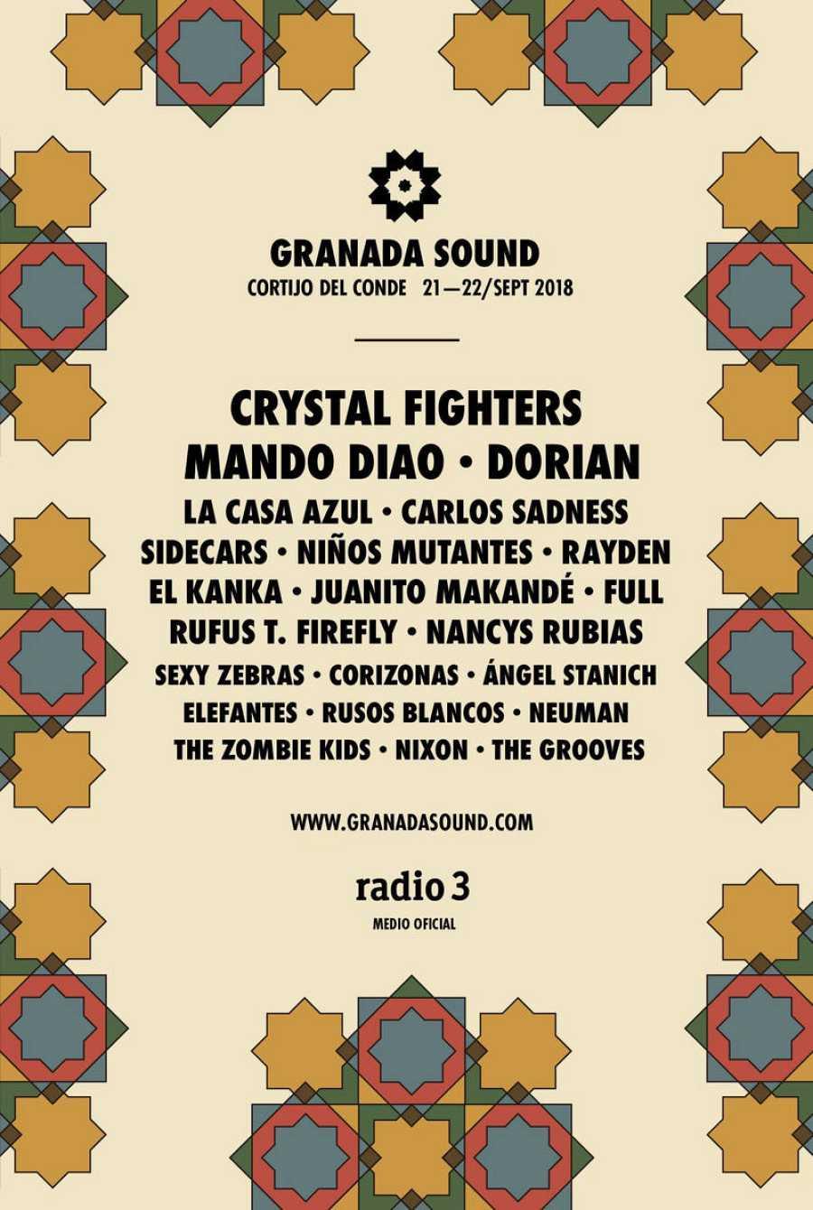 Cartel de la nueva edición del festival Granada Sound