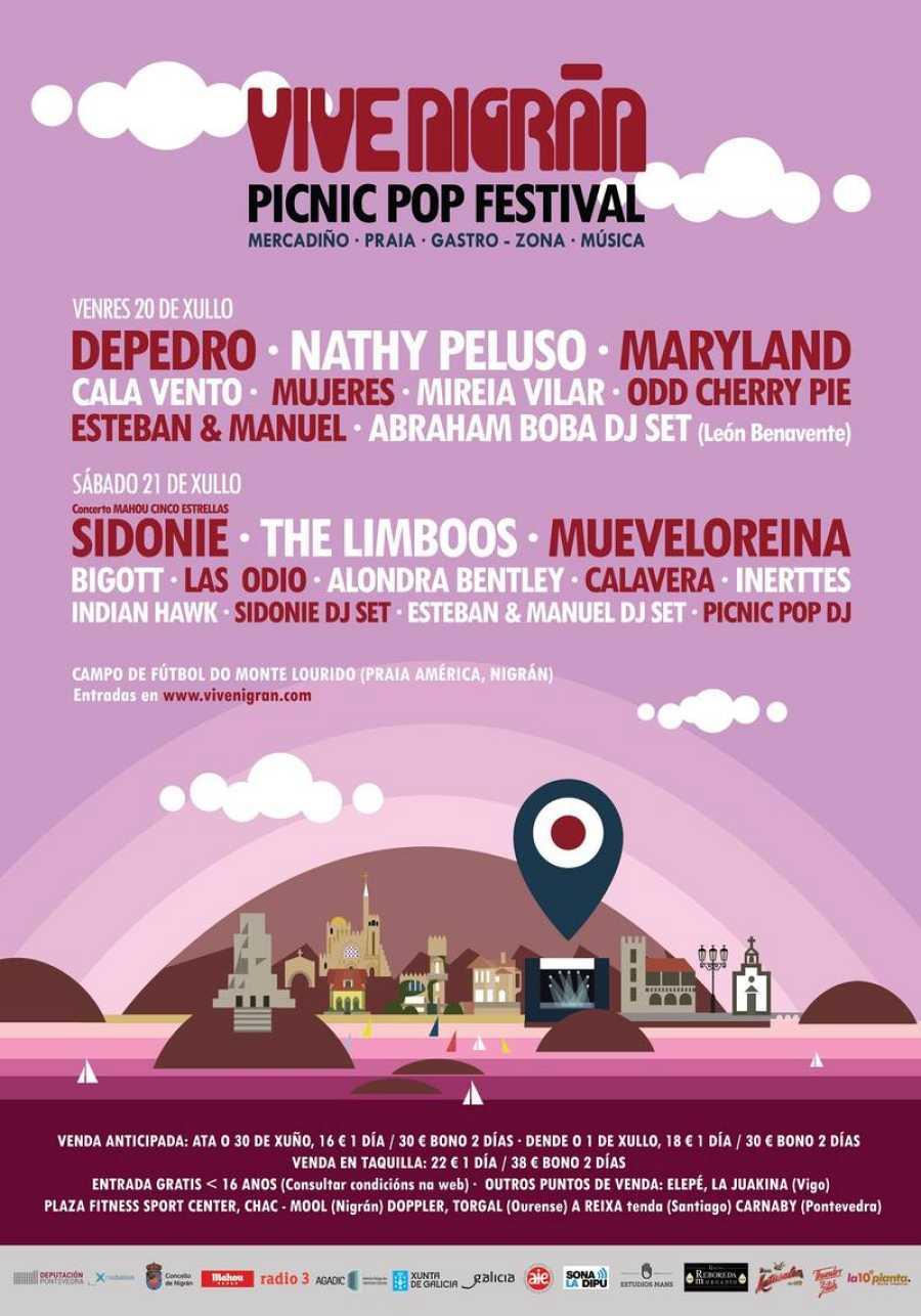 Cartel de la segunda edición del festival Viva Nigrán