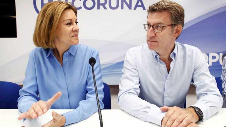 Feijóo recibe a Cospedal en Galicia en la campaña de las primarias del PP