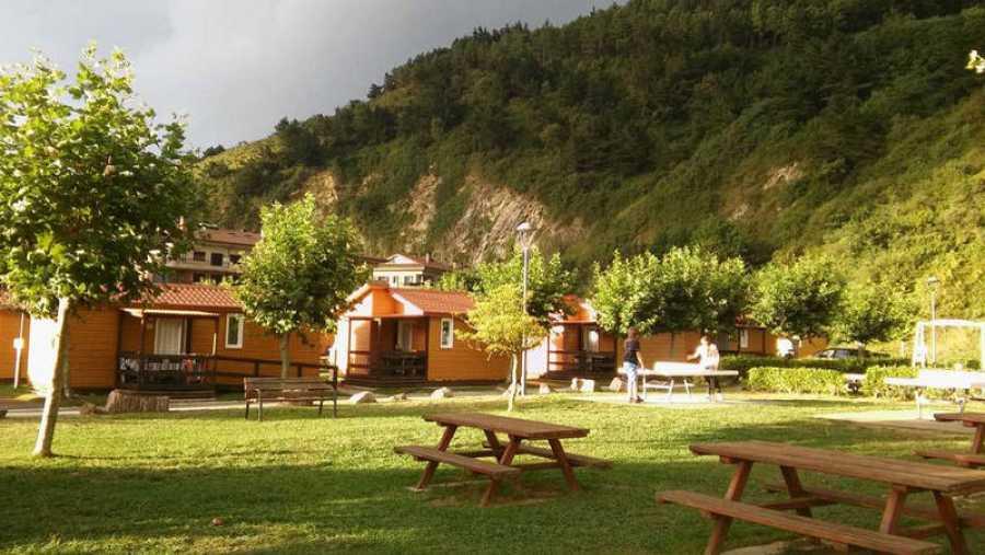 Vista de un camping tradicional