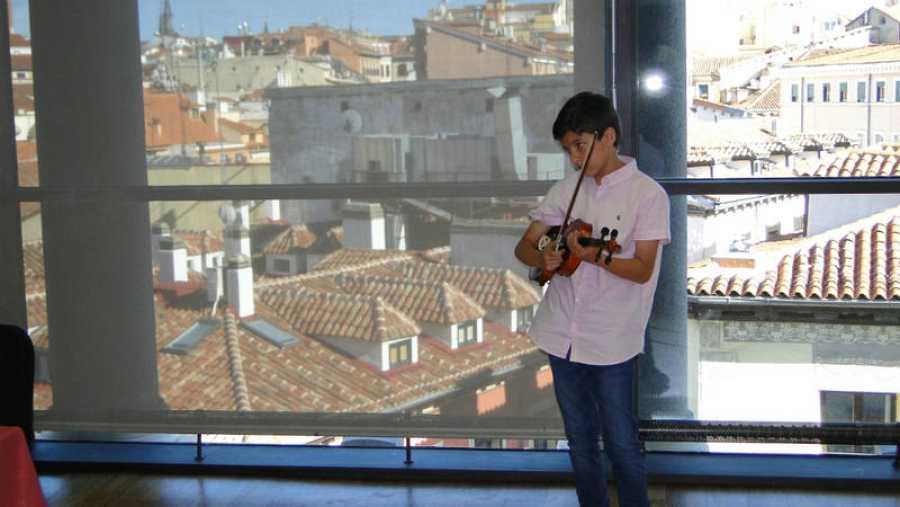 Pablo es alumno de la Fundación Acción Social por la Música.