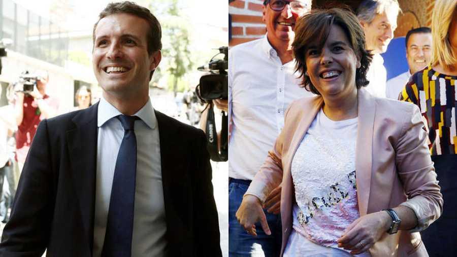 Pablo Casado y Soyara Sáenz de Santamaría, candidatos a presidir el PP