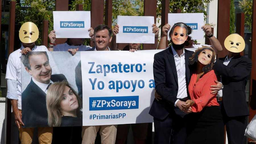 Acto de Hazteoir contra Sáenz de Santamaría en el Congreso del PP