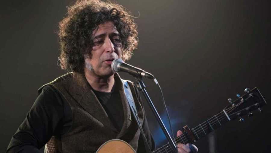 Manuel García, en pleno concierto