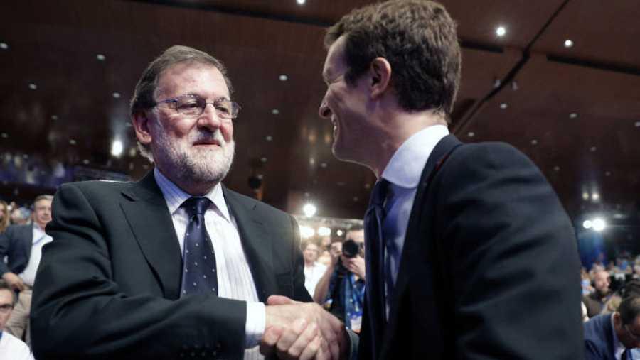 Rajoy y Casado, expresidente y presidente del PP