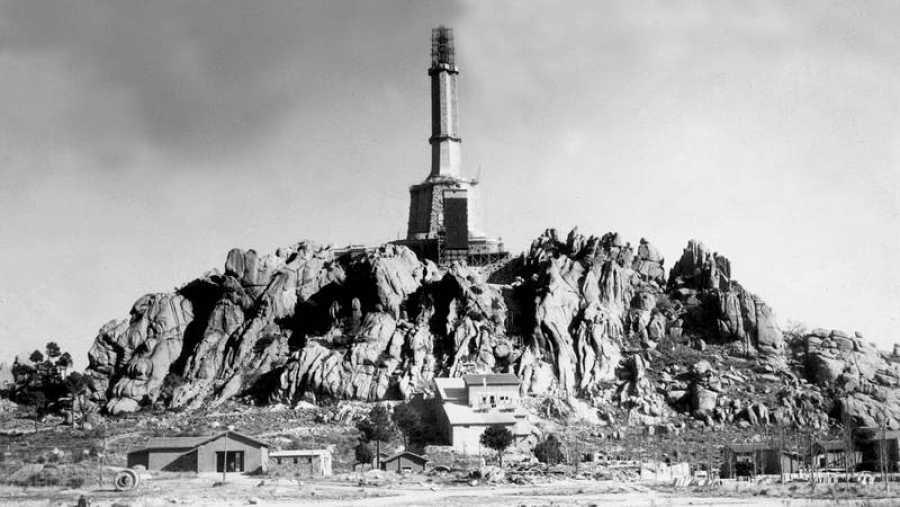 Obras de construcción del Valle de los Caídos en 1952 (EFE)