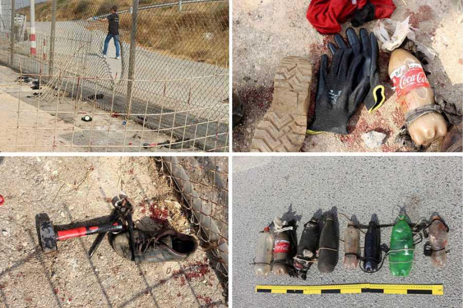 Objetos utilizados por los migrantes que saltaron la valla de Ceuta el miércoles