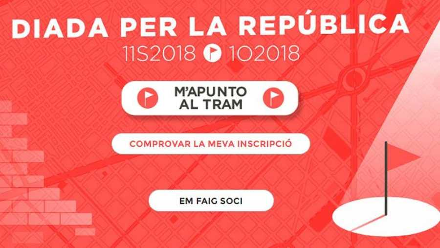 Imagen de la Diada de 2018 de la entidad independentista Asamblea Catalana.