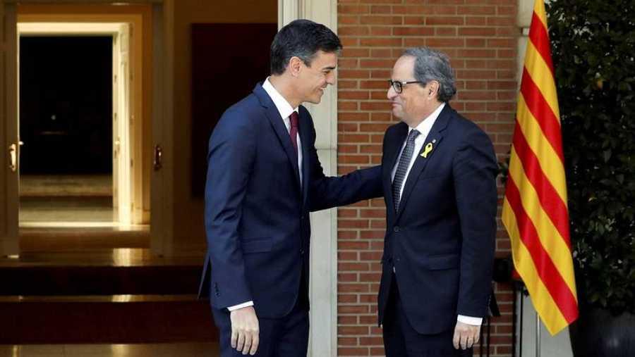 Sánchez recibe a Torra en La Moncloa el pasado mes de julio (EFE)