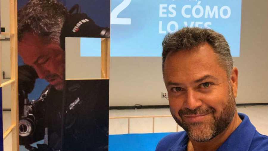 Karlos Simón, en la presentación de 'Hundidos' (La 2)