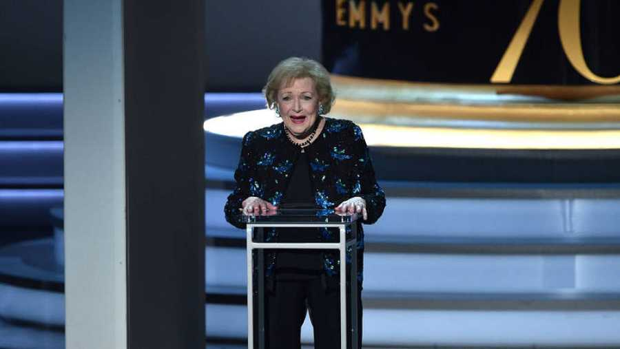 Betty White, durante la gala de los Emmy 2018