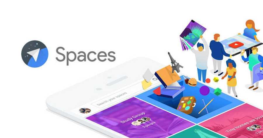 Fracasos de Google: logo de Google Spaces