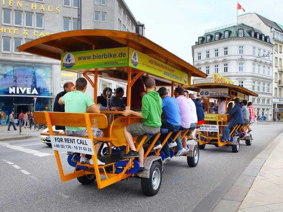 Una 'bicibarra' en una ciudad europea.