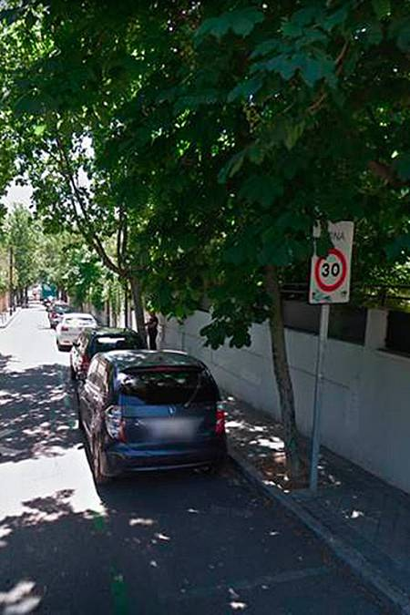 Un tramo de la calle Rodríguez Marín de Madrid