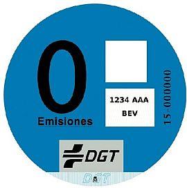 Pegatina 'CERO emisiones'