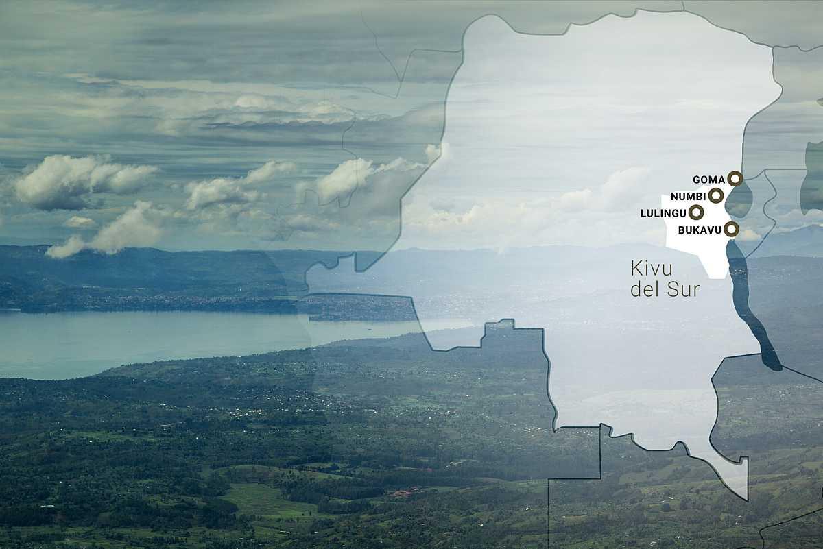 Plano general del lago Kivu en el Congo.