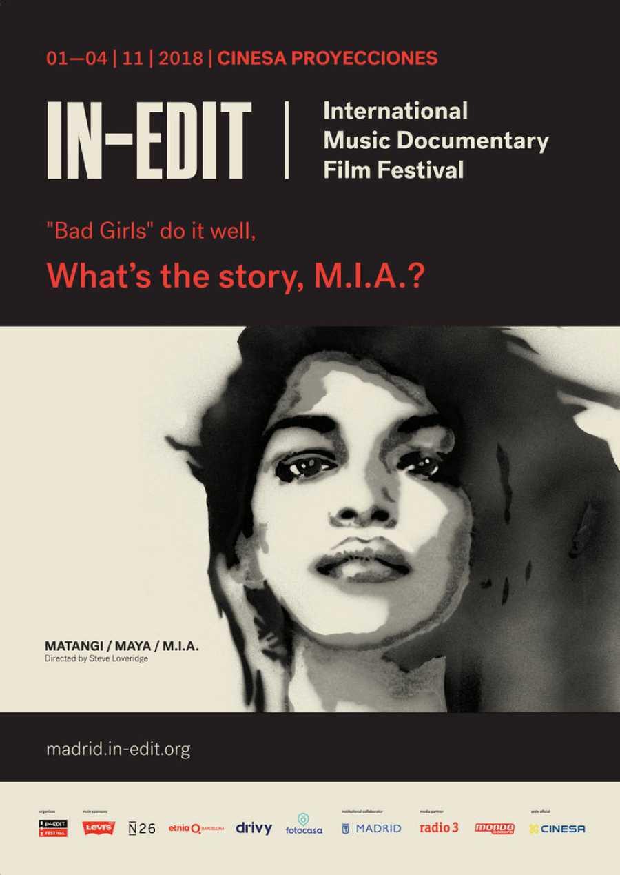 Cartel del documental MATANGI / MAYA / M.I.A. de Steve Loveridge