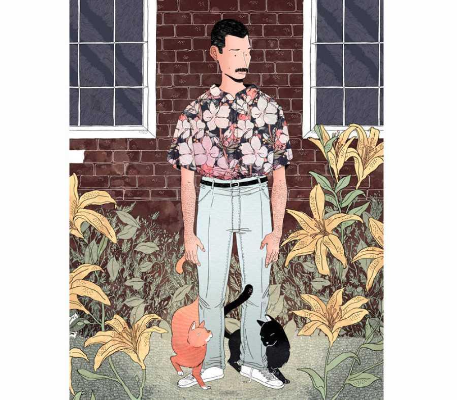 Ilustración de Alfonso Casas. Freddie Mercury.