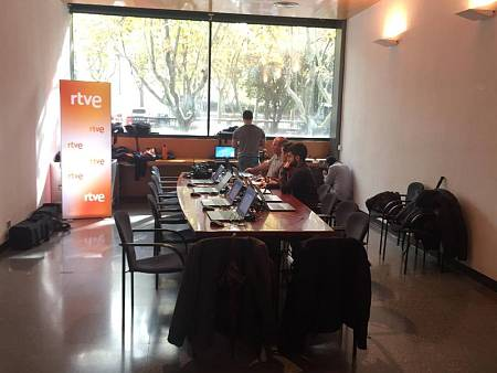 Sala de prensa de RTVE en el Salón del Manga de Barcelona