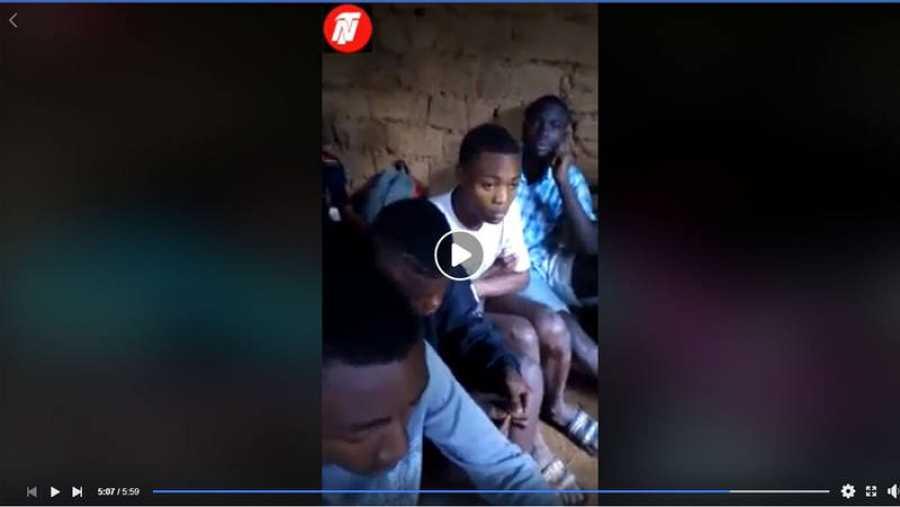 Imagen del video publicado por los secuestradores