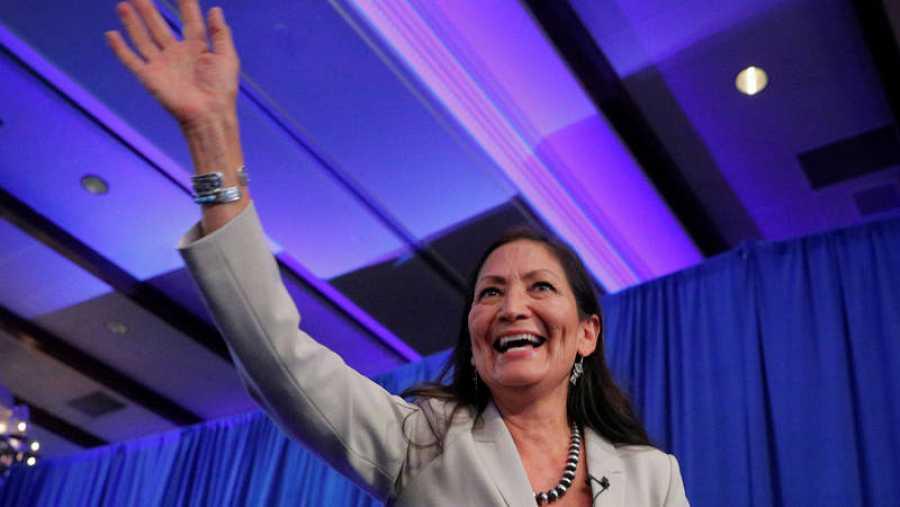 La candidata demócrata Deb Haaland