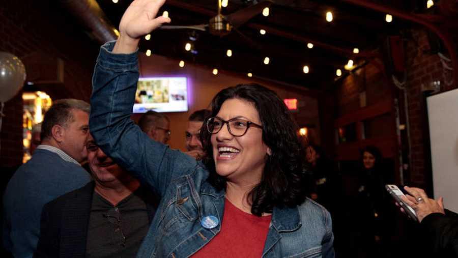 La candidata demócrata Rashida Tlaib