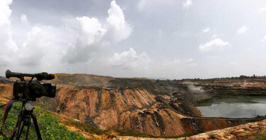 En una mina de carbón