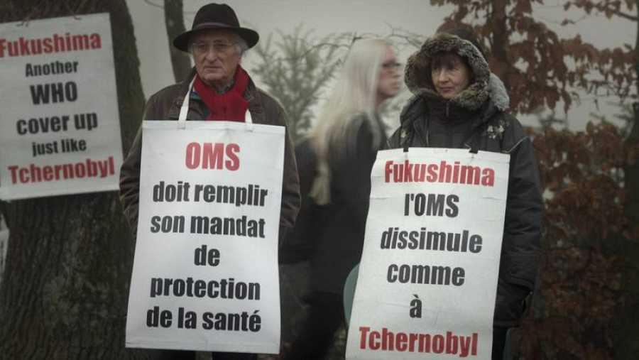 Protestas contra la OMS