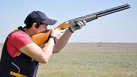 La tiradora española Pilar Calvo en una imagen compartida en su twitter.