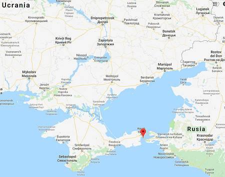 Situación del estrecho de Kerch, entre el mar de Azov y el mar Negro