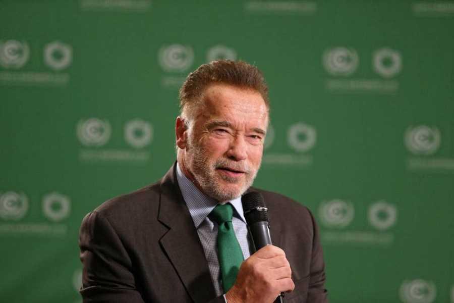Arnold Schwarzenegger, en la cumbre sobre el cambio climático.