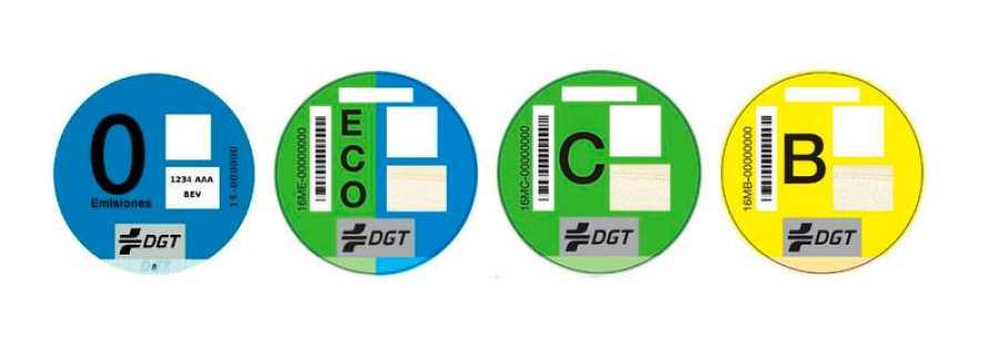 Distintivos ambientales de la DGT para los vehículos