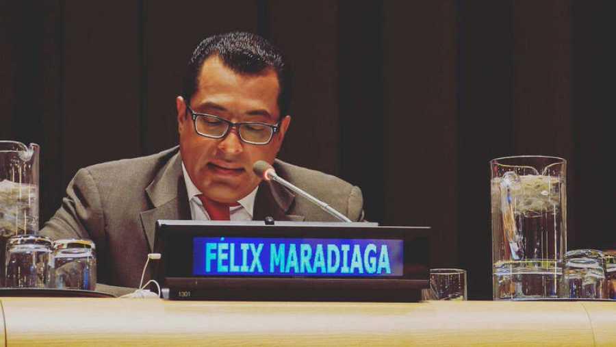 Félix Maradiaga ha denunciado el régimen de Daniel Ortega en la ONU