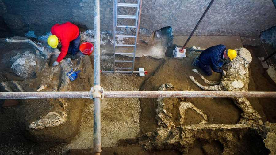 El antiguo establo de Pompeya donde han sido hallados los restos de los caballos